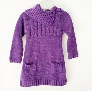 Cherokee Purple Cable Knitted Girl Dress - Size 5